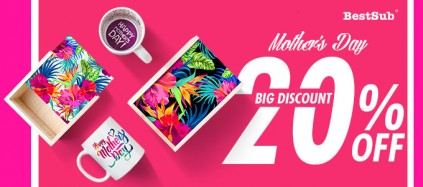 Save 20% for BestSub NEW Sublimation Gift Boxes and 11 oz Motto Mugs Now!
