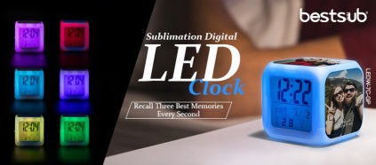 The New Sublimation LED Clock, Recall Your Three Best Memories!
