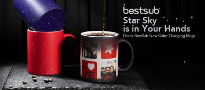 Star Sky is in Your Hands! Check BestSub New Color Changing Mugs!