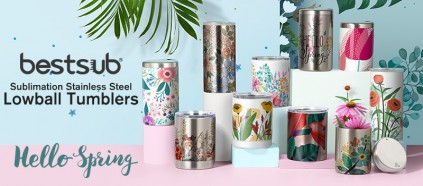 Print the Coming Spring on BestSub Sublimation Lowball Tumblers!