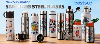 New Sublimation Stainless Steel Flasks Arrive! Keep up with BestSub!