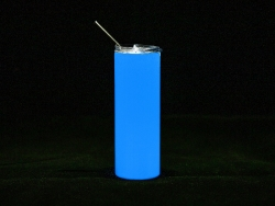20oz/600ml Sublimation Luminous Stainless Steel Skinny Tumbler (White to Blue)