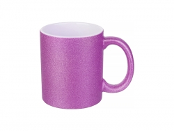 Sublimation 11oz/330ml Glitter Mug (Rose Red)