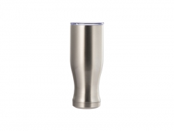 25oz/750ml Sublimation Stainless Steel Pilsner Style Tumbler (Silver)