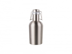 32oz/1000ml Sublimation Growler (Silver)