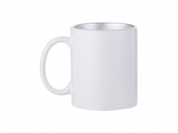 Sublimation 11oz Inner Sparkle Mug (Silver)