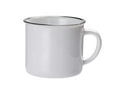 10oz/300ml Ceramic Enamel Mug (Black)