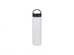 25oz/750ml Stainless Steel Flask w/ Portable Lid (White)