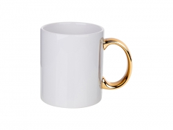 Sublimation 11oz Plated Ceramic Mug (Gold Handle)