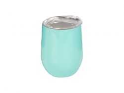 12oz Stainless Steel Stemless Wine Cup (Light Blue)