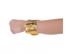 Sequin Bracelet (Gold W/ White)