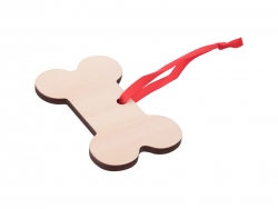 Plywood Christmas Ornament (Bone-Shape)