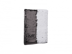 A5 Sequin Notebook (White W/Black)