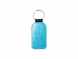 Glitter PU Leather Key Chain (Barrel, Blue)
