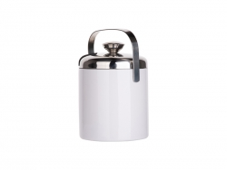 44oz/1300ml Stainless Steel Ice Bucket Set (White)