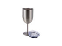 350ml Stainless Steel Wine Glass (Silver)