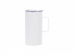 20oz/600ml Stainless Steel Mug (White)