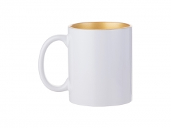 Sublimation 11oz Inner Sparkle Mug (Gold)
