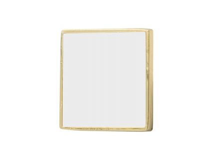Sublimation Metal Button (Gold, Square)