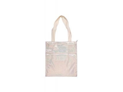 Sublimation Glitter Tote Bag(34*37cm, Champagne)
