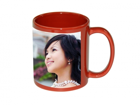 11oz Full Colour Mug with White Patch-Red
