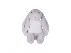 30cm Plush Bunny w/ Shirt (Light Gray)