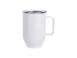 17oz/500ml Stainless Steel Coffee Cup (White)
