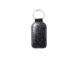 Glitter PU Leather Key Chain(Barrel, Black)