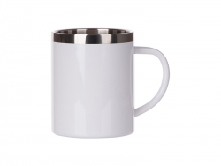 15oz/450ml Sublimation Stainless Steel Mug (White)