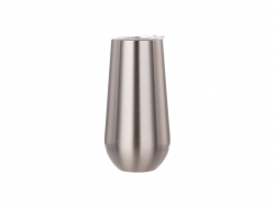 5oz/150ml Stainless Steel Stemless Champagne Cup (Silver)