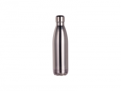 17oz/500ml Stainless Steel Cola Shaped Bottle (Mirror-Like Silver)