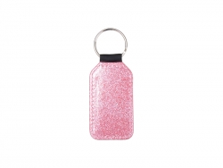 Glitter PU Leather Key Chain (Barrel, Pink)