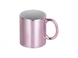 Sublimation 11oz Pink Plated Ceramic Mug