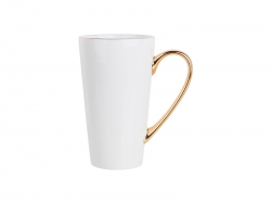 14oz Gold Rim/Handle Latte Mug