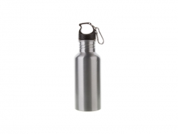 600ml Aluminium Water Bottle (Silver)