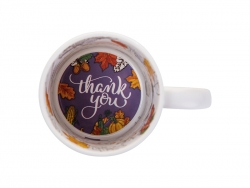 Sublimation 11oz Motto Mug (Thank you)
