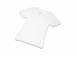 T-shirt Shaped Ceramic Ornament