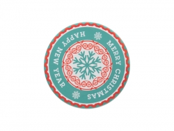 Φ9cm Round Ceramic Coaster w/o Cork (Frosted)