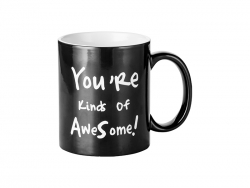 Sublimation 11oz Engraving Color Changing Mug (Awesome Motto)