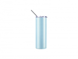 20oz/600ml Sublimation UV Color Changing Stainless Steel Skinny Tumbler (White to Blue)