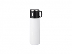 17OZ/500ml Sublimation Stainless Steel Bottle (White)