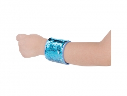 Sequin Bracelet (Light Blue W/ White)
