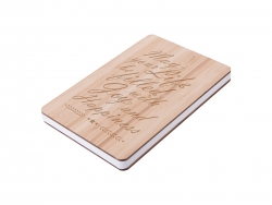 A5 Bamboo Cover Notebook (14.1*21cm) MOQ: 500pcs