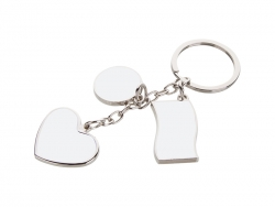 Sublimation Keychain with Pendant (Flag,Round,Heart)