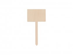 Plywood Garden Stake (Rectangle,7*17.5cm)