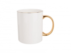11oz/360ml Gold Rim and Handle Bone China Mug