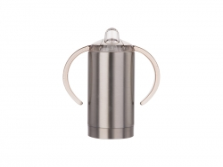 13oz/400ml Stainless Steel Sippy Cup with Spout (Silver) MOQ: 2000pcs
