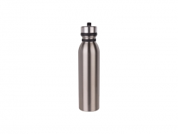 20oz/600ml Stainless Steel Flask w/ Portable Lid (Silver) MOQ:3000