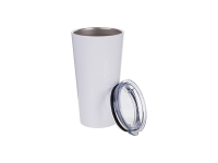 16oz/480ml Stainless Steel Tumbler (White)