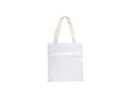 Sublimation Glitter Tote Bag(34*37cm, White)